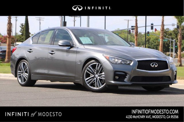 PRE-OWNED 2015 INFINITI Q50 HYBRID SPORT WITH NAVIGATION
